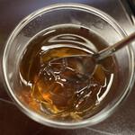 御料理 山上 - 料理写真:ほうじ茶ゼリー❣️