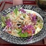 ダッタン蕎麦 寿庵 - サラダ蕎麦 アップ