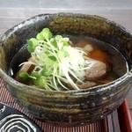 ダッタン蕎麦 寿庵 - ミニコース 蕎麦掻きの入った鴨汁