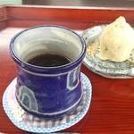 ダッタン蕎麦 寿庵 - ミニコース たんぽぽコーヒーと蕎麦饅頭