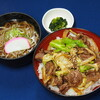 小黒川パーキングエリア上り線フードコート - 料理写真:南信州ジンギス丼ミニそばセット¥1000