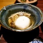 猿のしっぽ - 小鉢は胡麻豆腐