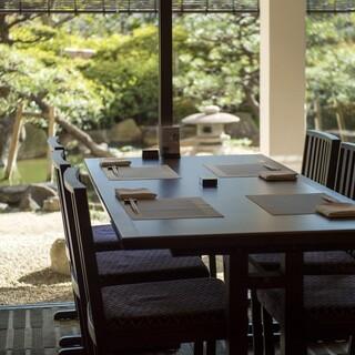 日本庭園を眺めながらゆったりと