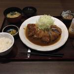 倉敷とんかつさくら亭 - 料理写真:ヒレカツデミソース膳1463円