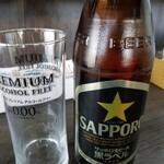 札幌麺や 鬼てつ - ドリンク写真:黒ラベル。