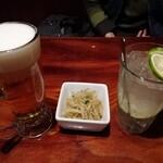 リバーサイゴン - 料理写真:生ビールとゆずサワー