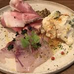 イタリアンバル キクバル - 前菜3品盛り