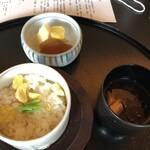 昭和の森 車屋 - 食事 止椀 香の物