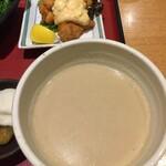 車 - 冷汁と鶏の唐揚げ