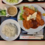 キッチンスズキ - 料理写真:ロースカツ、海老フライ、カキフライ 1,380円