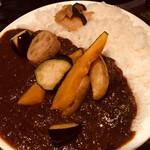 ワンダカレー店 - 揚げ野菜カレー
