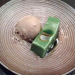 1402614 - デザートは、ほうじ茶アイスクリーム