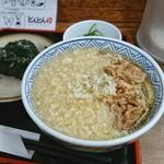 どんどん - 料理写真:モーニング 肉 むすび1個 [¥420]/ 天かす[¥40]