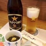 14021754 - 中瓶ビール+お通し