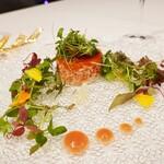140216509 - 愛知県産絹姫サーモンとリコッタチーズ ライム風味のタルタル
