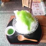 みかん工房 - 生メロンのシロップカキ氷