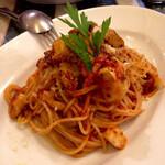 140223862 - スパゲッティ 豚肉のラグーときのこのトマトソース
