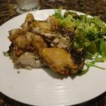 肉割烹 門 - ひな鶏の香草ロースト