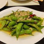 王様の食卓 - 枝豆のペペロンチーノ