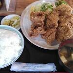 あたご食堂 - 料理写真:鳥から定食(ライス大盛)
