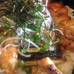 京都 丹波黒地鶏かずき - 丹波地鶏丼