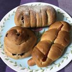 モリモト製パン - 料理写真:3個のパン購入
