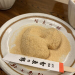 文珠荘 勘七茶屋 - 重太郎餅(きなこ)3ヶ入   300円
