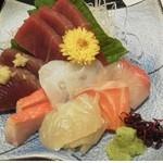 和根洋菜 柳 - 料理写真:刺身盛り合わせ\1500
