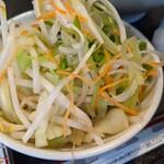 喜多方 坂内 ラーメン - 野菜盛り