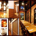 淡路ごちそう館 御食国 - 赤レンガと和の融合。畳の部屋でありながら壮大な吹抜けの不思議な空間。