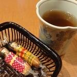 14028762 - 食後の二番茶とお菓子