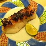 140281440 - 白甘鯛の松笠焼き。