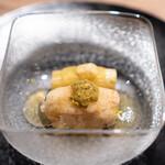 波濤 - 噴火湾の毛蟹と茄子 生姜、蟹味噌