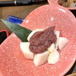 140299531 - たたいた山芋(梅肉味噌)