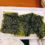 韓国料理 扶餘 - オマケの韓国海苔