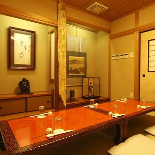 大切な日は、江戸情緒溢れる個室でゆったりとお過ごしください。