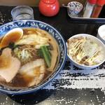 手打ち中華 こころ - 料理写真:ワンタン麺 ミニチャーシュー丼セット