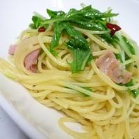 ループカフェ - 大人気!夏にぴったり『みず菜とベーコンのペペロンチーノ』