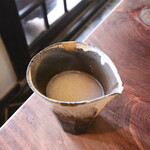 薬庵 - 蕎麦湯