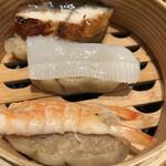 鮨・酒・肴 杉玉 - 欲張りなシュウマイ3種盛り