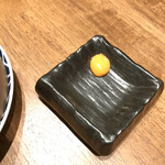 鮨・酒・肴 杉玉 - シュウマイに付いて来るウニペースト