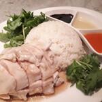 140323450 - ⚫海南鶏飯(M)(パクチー大盛り)