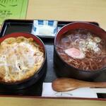八十一 - 料理写真:カツ丼セット