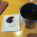 茶房 夢テラス - 煎茶と団子 ¥500+¥300