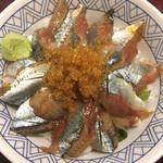 Marusasuisan - サンマ丼の上にはトビ子⁇って言うんでしたっけ?久々に食べました。