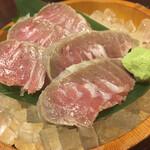 Marusasuisan - 本マグロの脳天トロ刺し968円。素直に中トロを食べれば良かった。