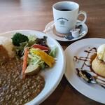 マスターズカフェ - キーマカレーとプリン、コーヒー