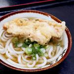 麺八 - とり天うどん(かけうどん+ささみ天)