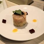 俺のフレンチ - 2012.7 甘海老のタルタル、クスクスのサラダ(714円)