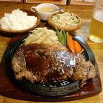 かうぼーい - かうぼーいステーキ(L/300g)、Cセット、生ビール